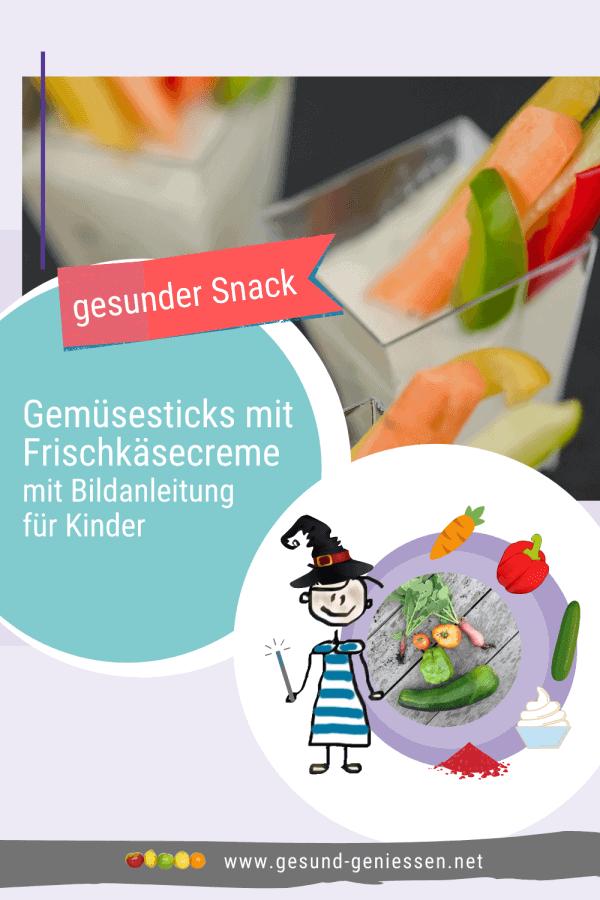 Pin Rezept Gemüsesticks mit Frischkäsecreme