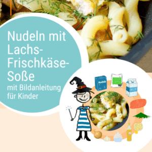 Rezept Nudeln mit Lachs-Frischkäse-Soße