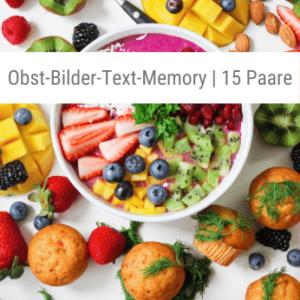 Obst-Bilder-Text-Memory-Spiel