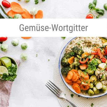 Gemüse-Wortgitter-Spiel